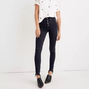 """Madewell 9"""" Mid-Rise Skinny Jeans Button Fly 24"""